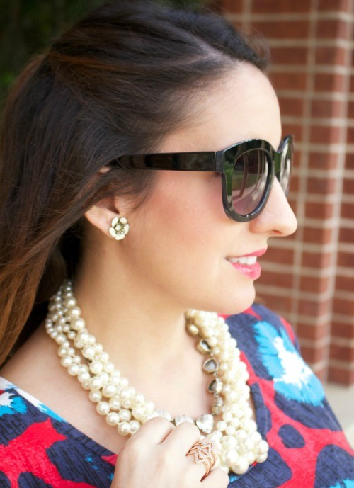 Big Sunglasses and pearls