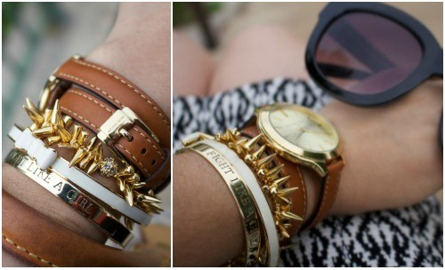 Arm candy for a cause with Accessory Concierge Fight Like A Girl Cuff  for BC Awareness