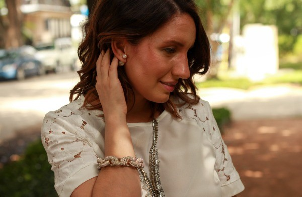 Pretty In Her Pearls | Date night look with my favorite pearl 360 studs