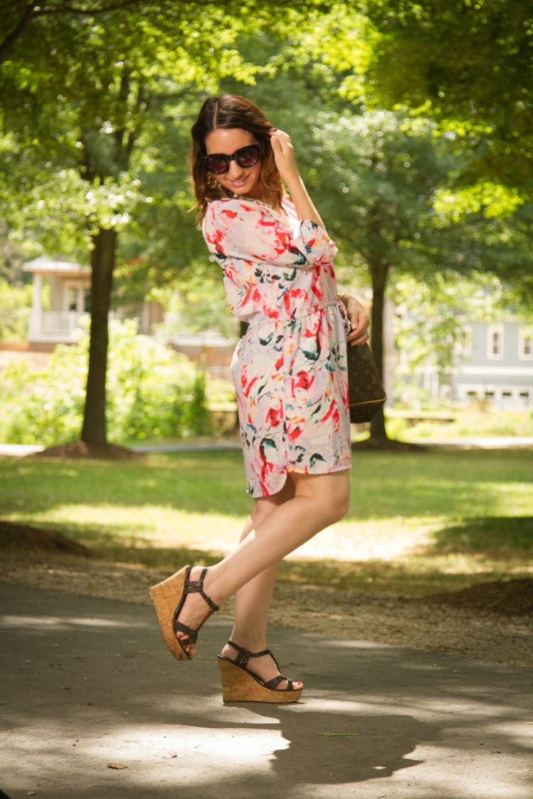 Indian Summer-Summer dress and wedges