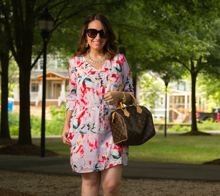 Floral dress and sunnies