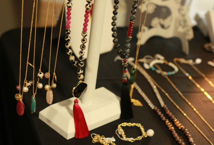 Brenda Grand necklaces and tassels