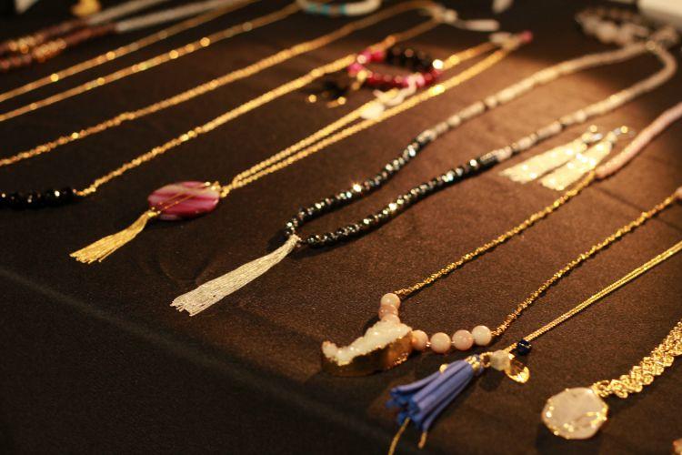 Brenda Grands necklaces up close