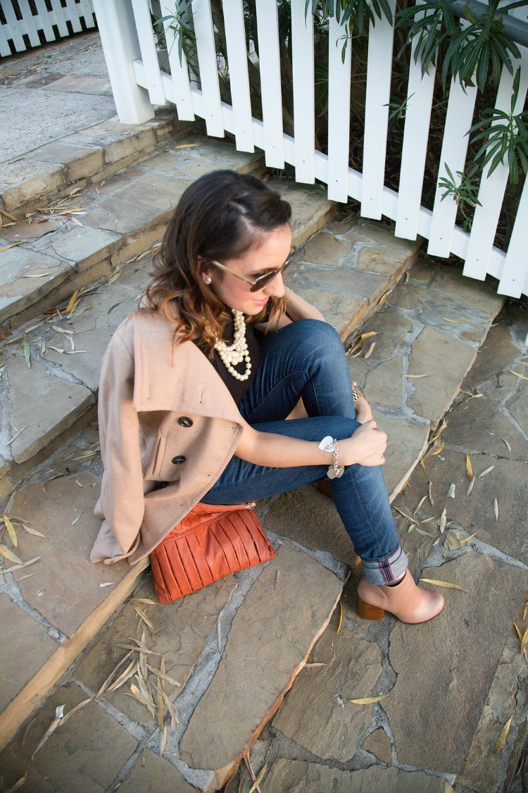 Fall Style mixing taupe, camel, and black