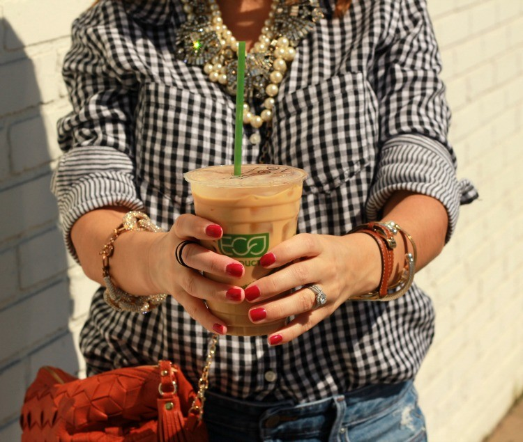 Arm candy and Tout Suite Iced Coffee