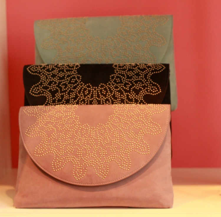 Elaine Turner embellished clutches