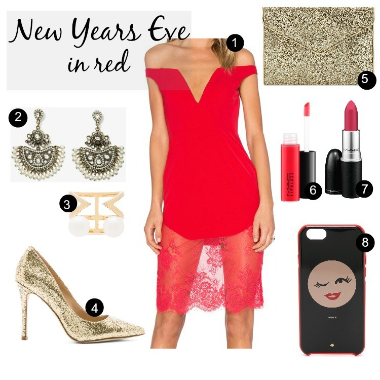 New Years Eve Outfit Ideas in red
