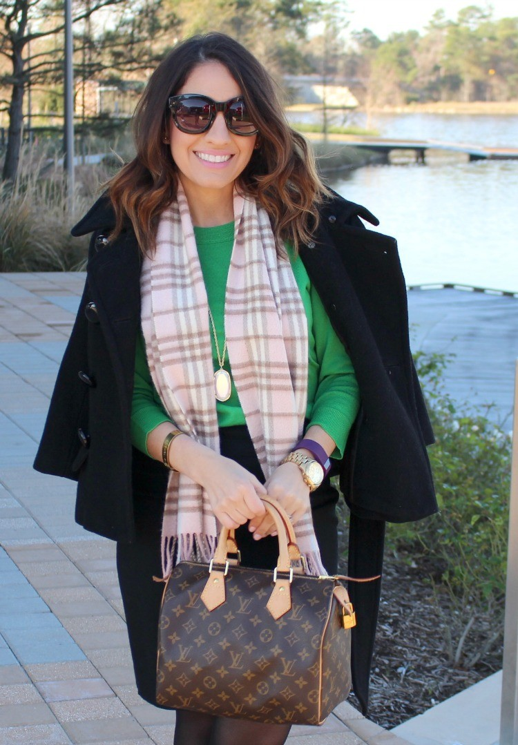 Pink Burberry Scarf that's perfect for chilly mornings