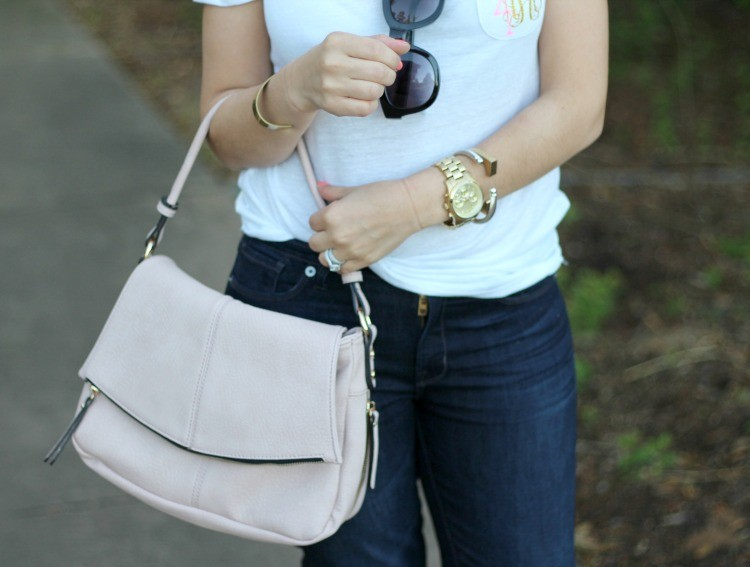 Blush colored bag