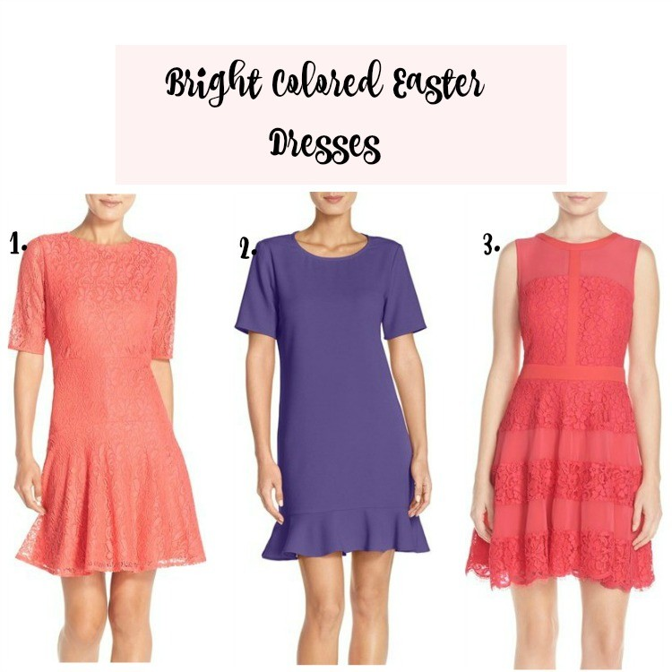 Bright colored Easter Dresses