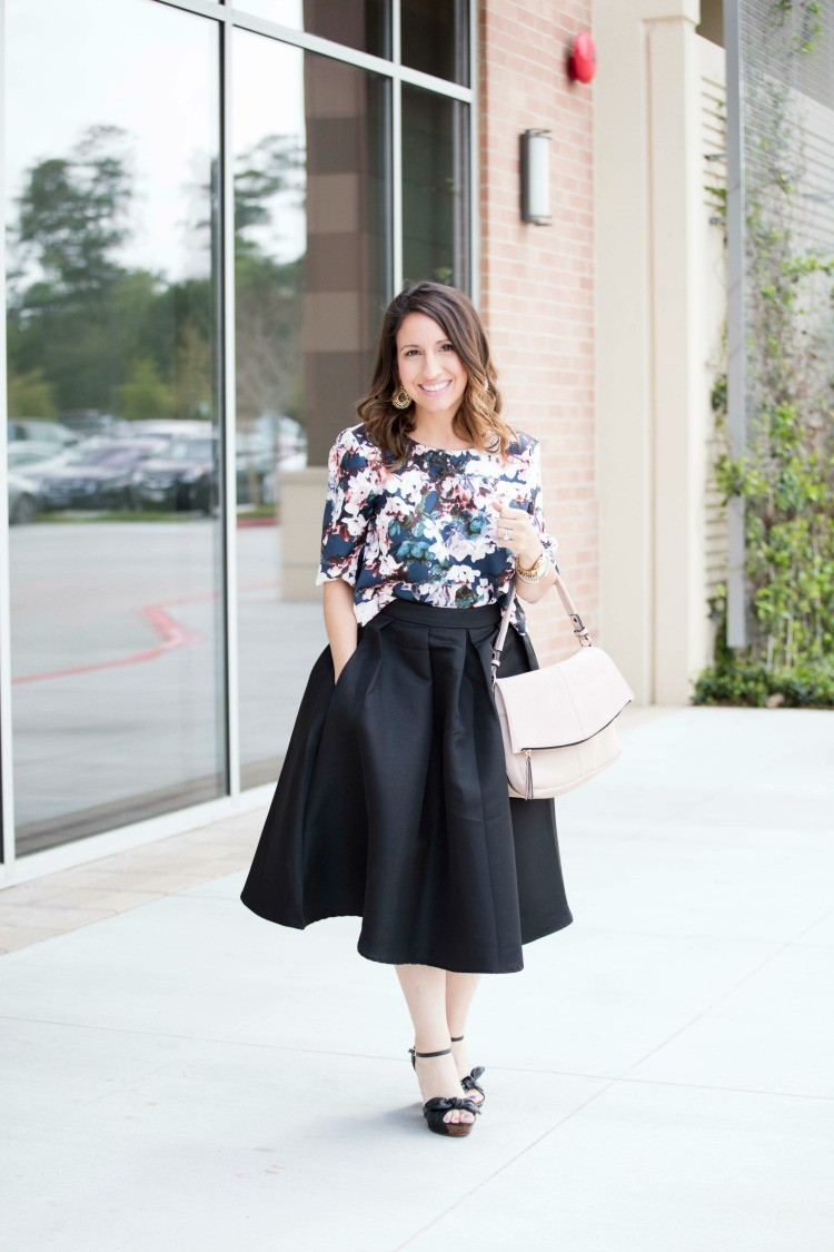 Dressed up feminine outfit