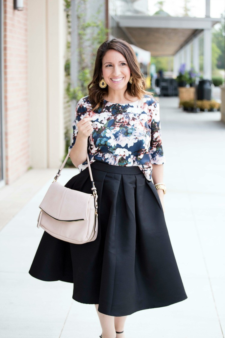 Floral crop top and midi skirt