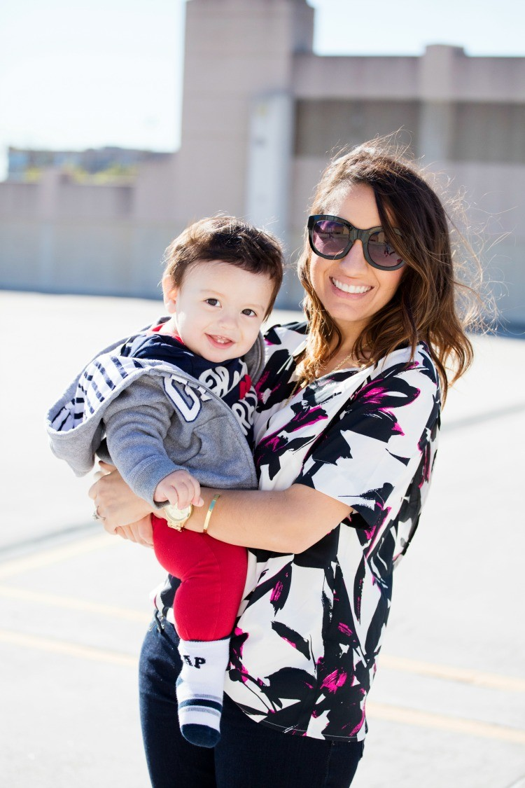 Mommy and Baby boy styled in Baby Gap