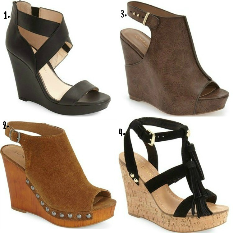 Summer wedges and platforms
