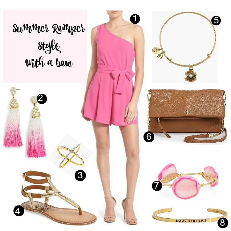 Dressy Summer Romper and Sandals