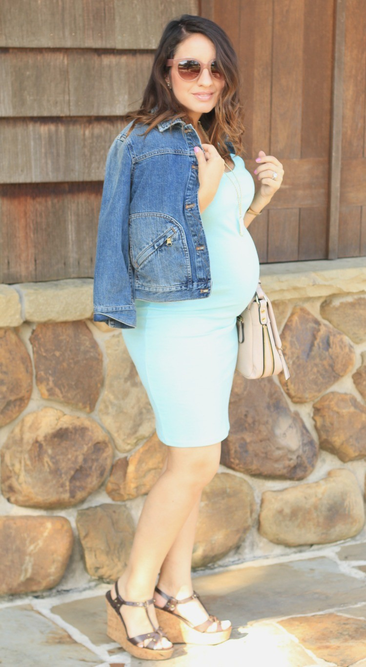 Light blue dress and cute jean jacket