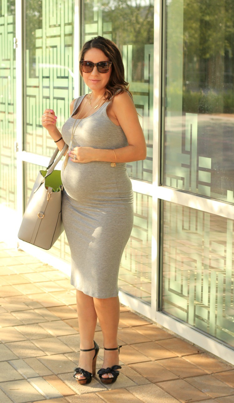 Summer Time Date Night Look + Maternity Style In NonMaternity Dress