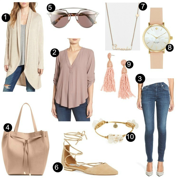 Pretty In Her Pearls: Blush and Nude Prefall Outfit