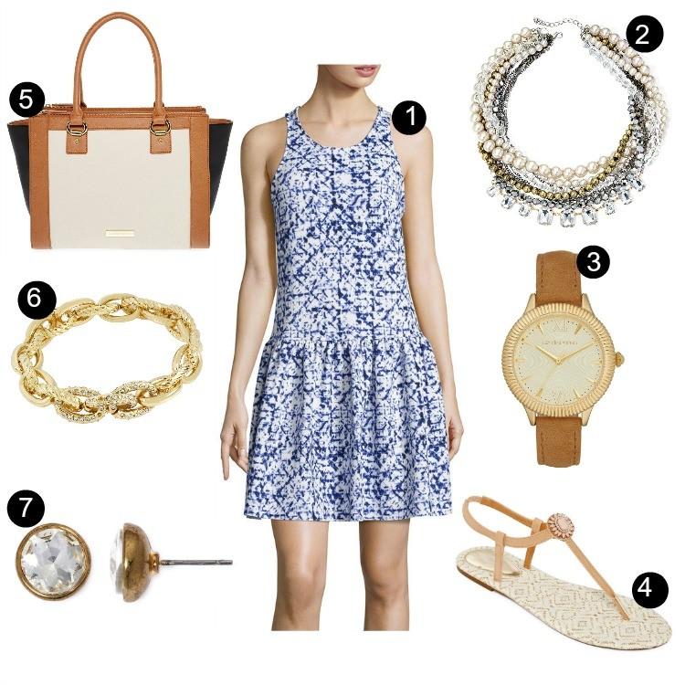 Pretty In Her Pearls: Drop Waist Scuba Dress under $25
