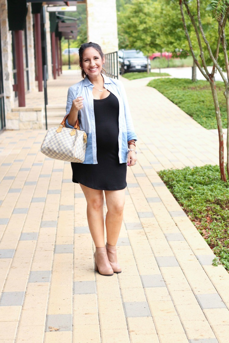 Layering the with the cutest LBD + Maternity Style