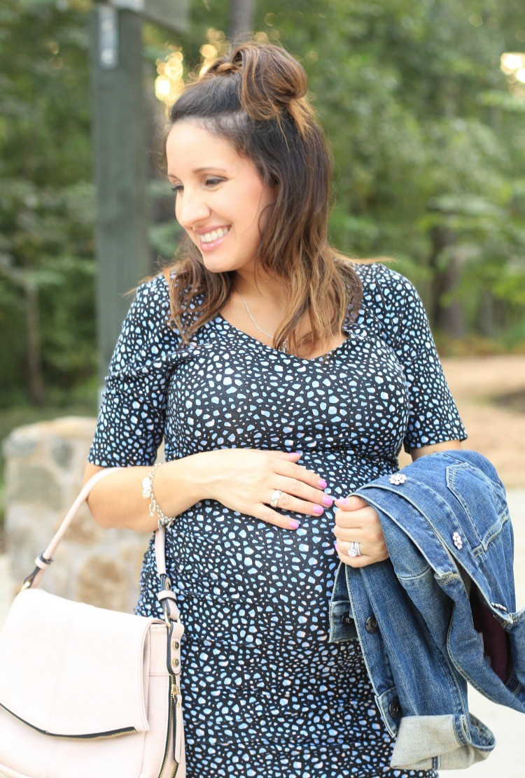 Pretty In Her Pearls Maternity Style Outfit