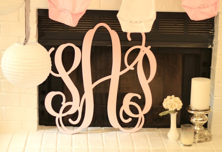 Baby Girl Baby Shower with a Pink Monogram
