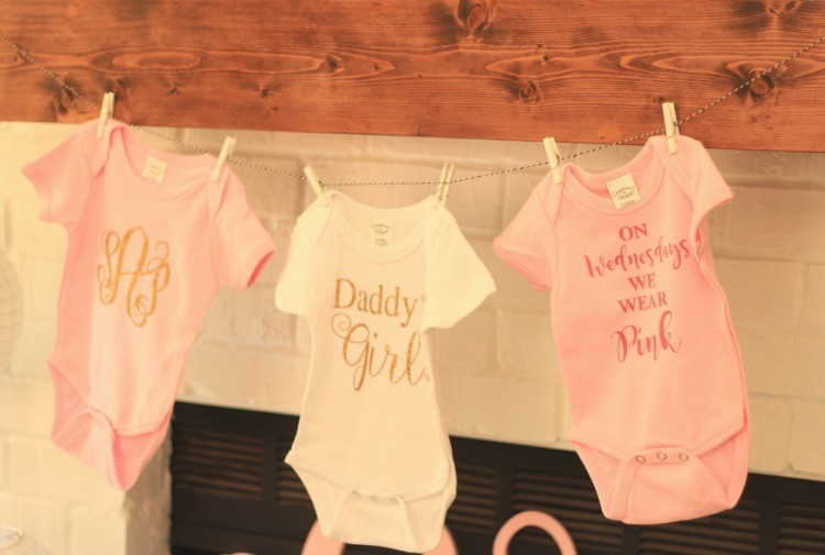 Baby Girl Shower Onesies