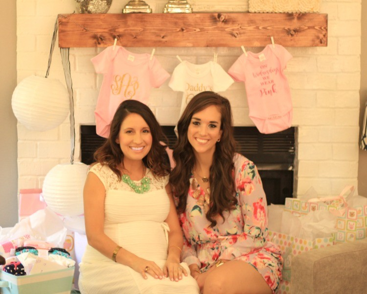 Baby Girl Shower Picture time with the hostess