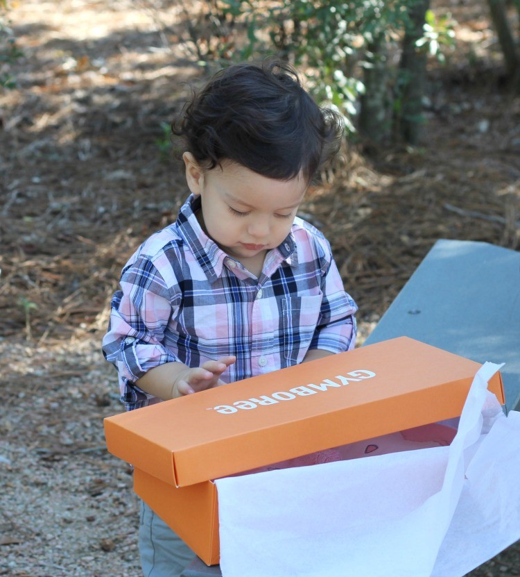 Getting ready for his new baby sister with Gymboree
