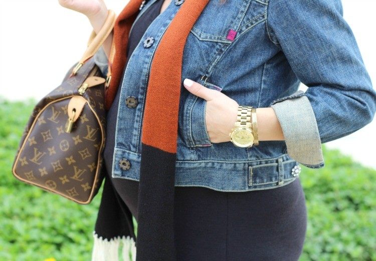 Michael Kors gold watch and Accessory Concierge bracelet, and Louis Vuitton Speedy hand bag