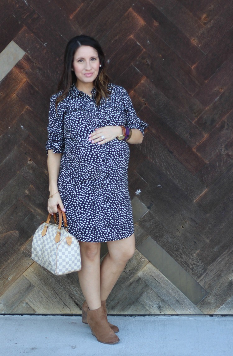 Petite maternity fashion blog, Pretty In Her Pearls, Houston Style