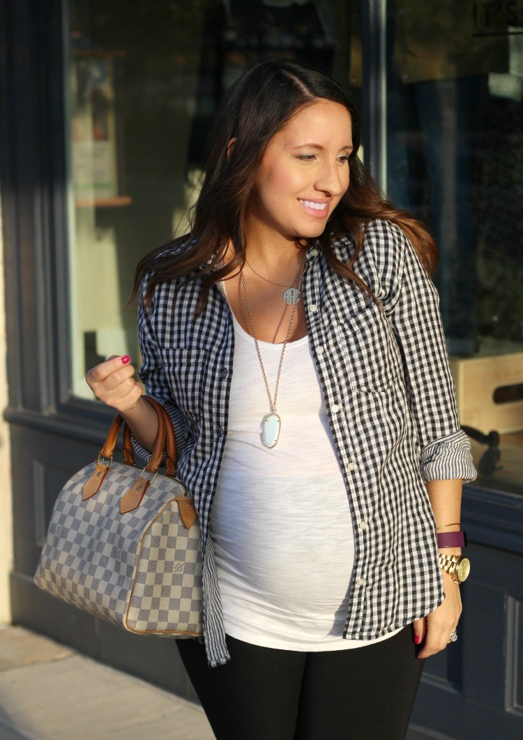 Pretty In Her Pearls fall casual look