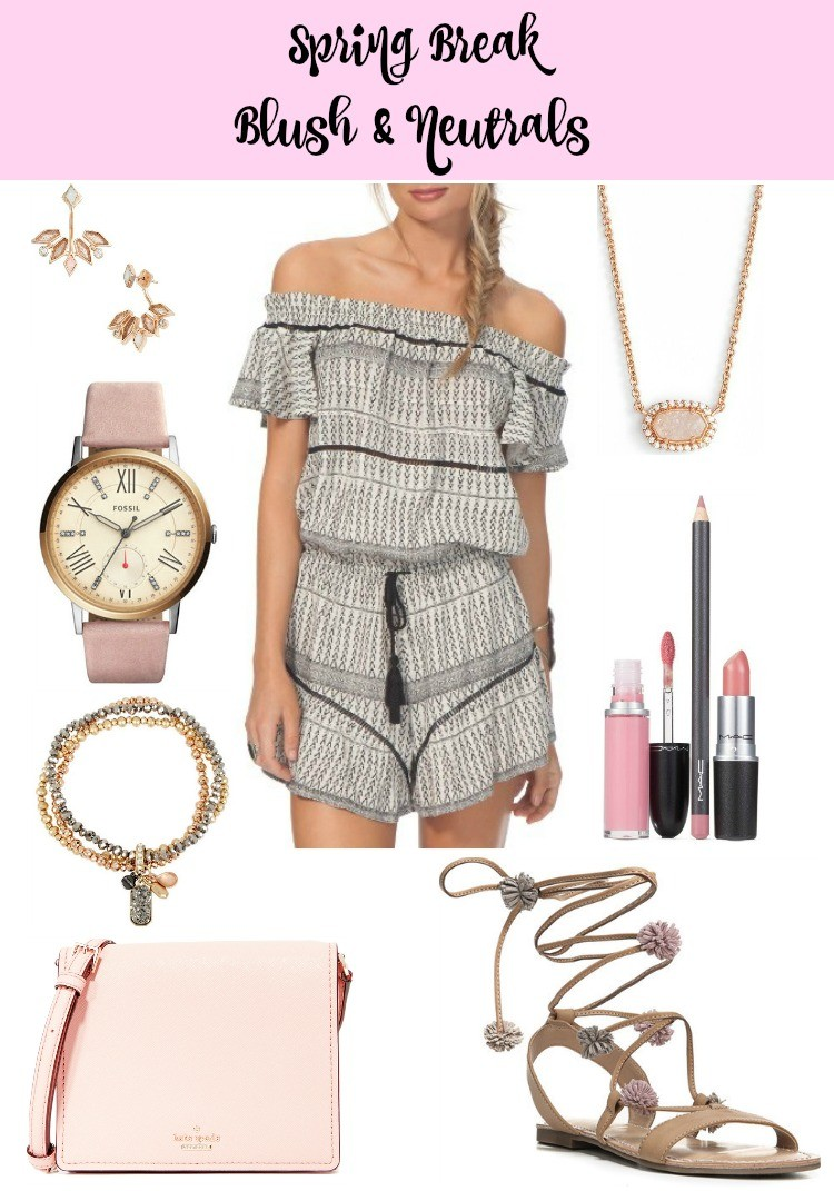 Spring Break Blush & Neutrals, Pretty In Her Pearls, Houston Blog