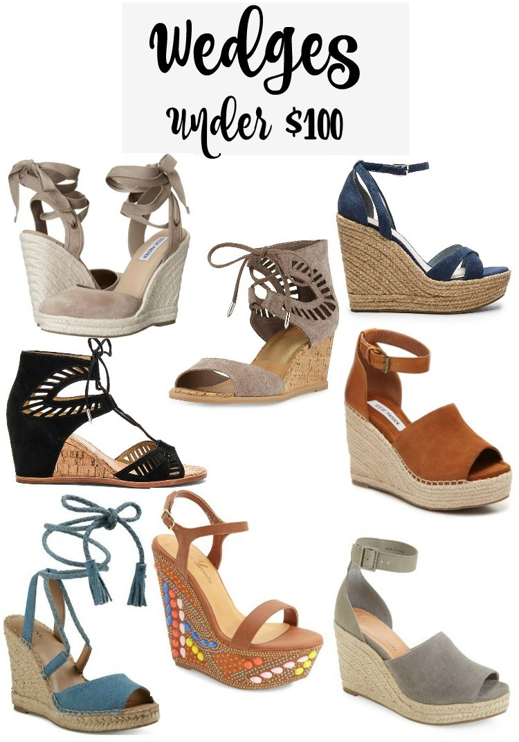 Wedges Under $100, Pretty In Her Pearls, Houston Blogger