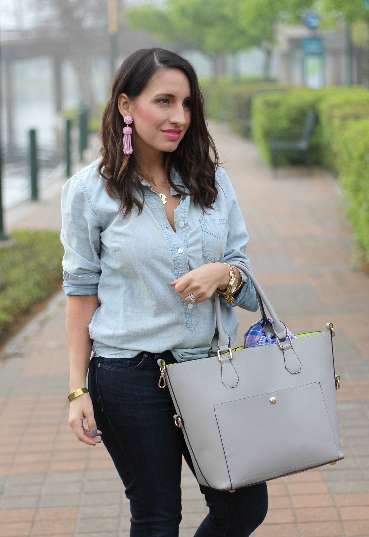 Lisi Lerch Tassel Earrings,Pretty In Her Pearls, Style Blogger, Petite Style Blogger