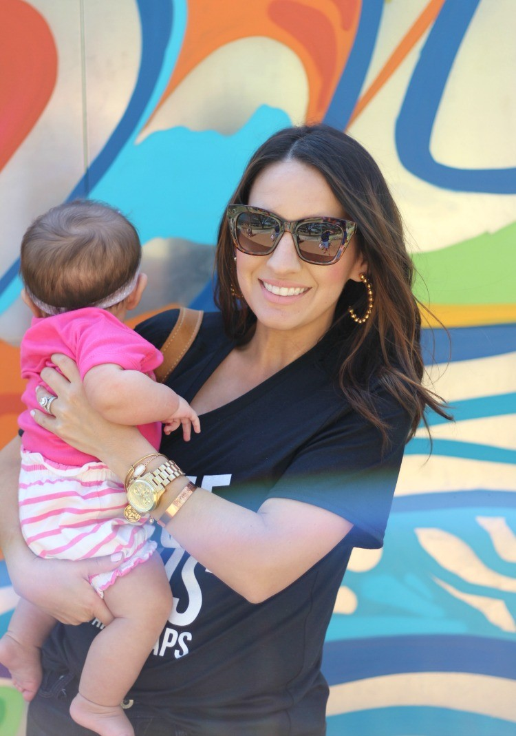 Mommy and Me time, Elly and Grace T-Shirt, Pretty In Her Pearls, Style Blogger, Petite Blogger, Mom Blogger,