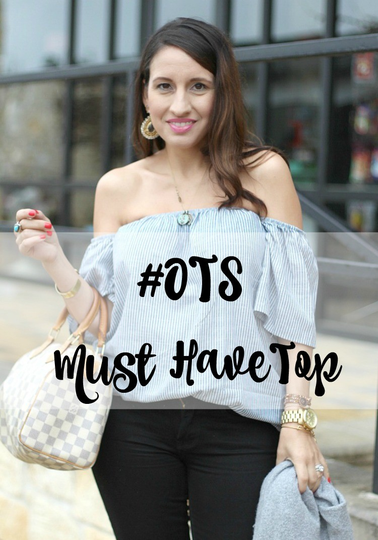 Off the shoulder must have top, Romwe, Pretty In Her Pearls, Houston Blogger