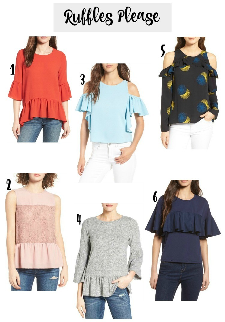 Ruffle tops under $70, Pretty In Her Pearls