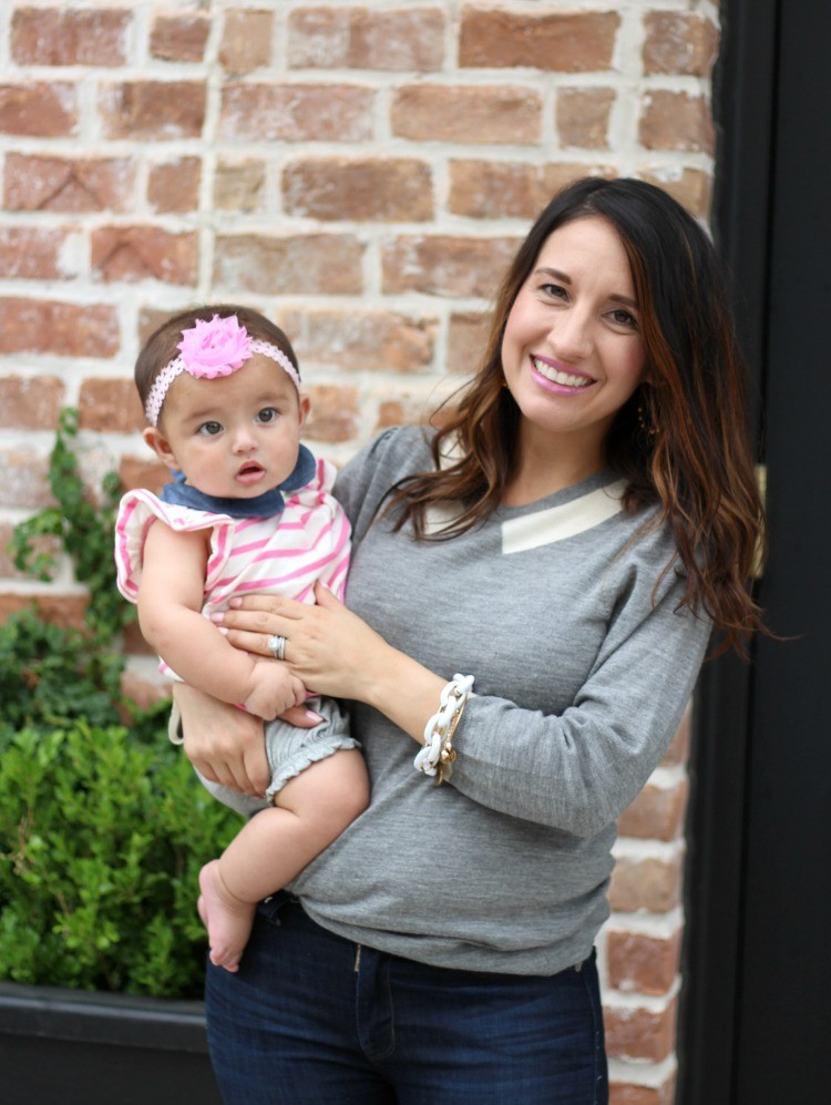 Mommy and me collared shirts, The Perfect Collared Tippi Sweater, Pretty In Her Pearls, Petite Blogger