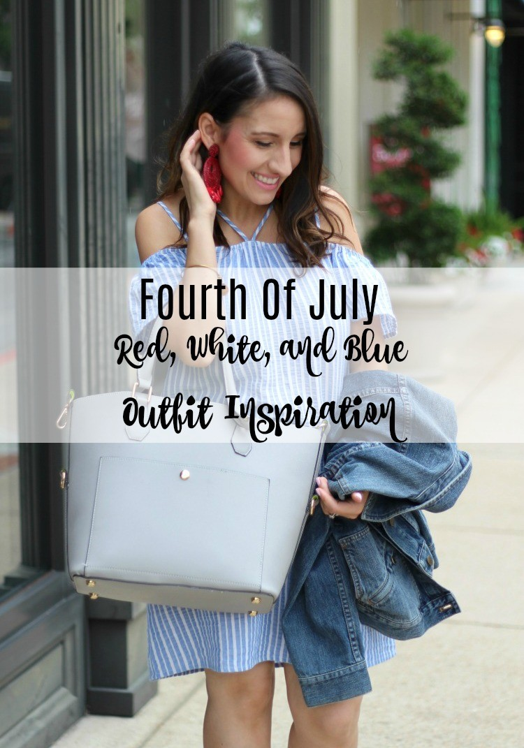 Fourth of July Red, white, and blue Outfit, Pretty In Her Pearls, Petite Style Blogger