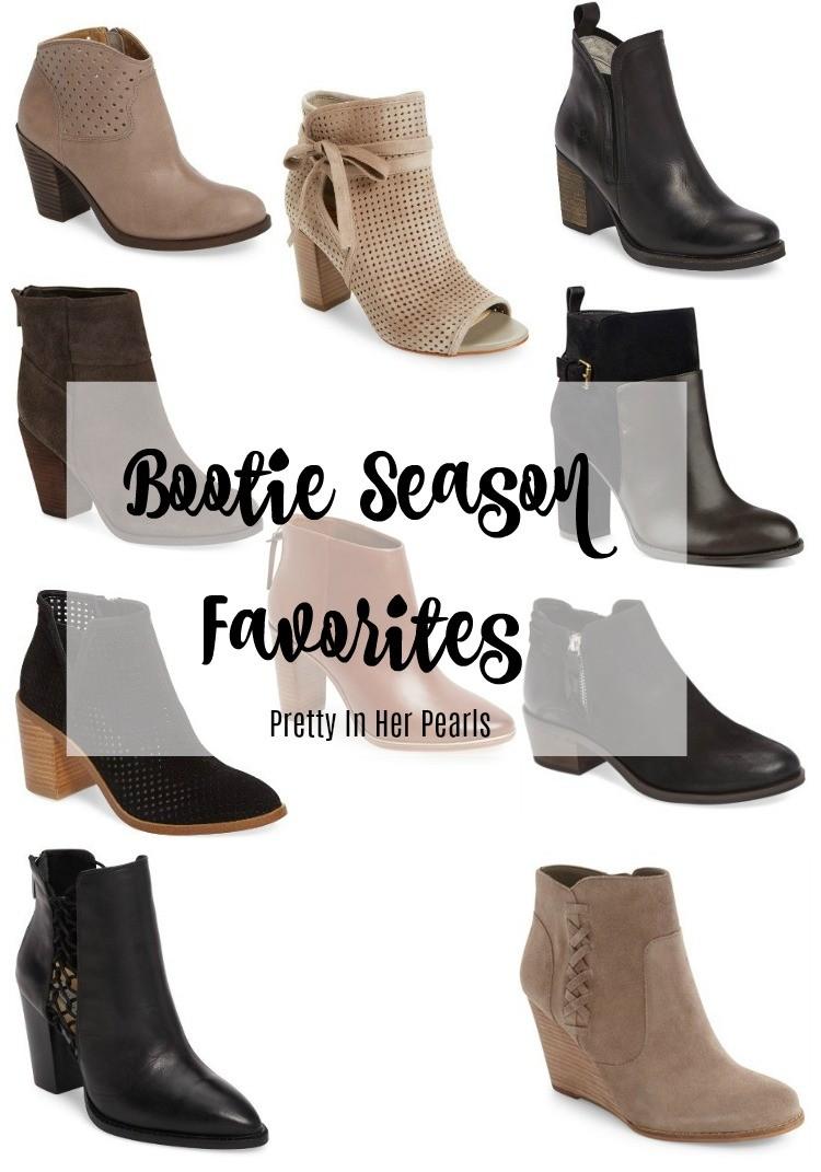 Bootie Season Favorites, Pretty In Her Pearls, Houston Blogger, Booties Season