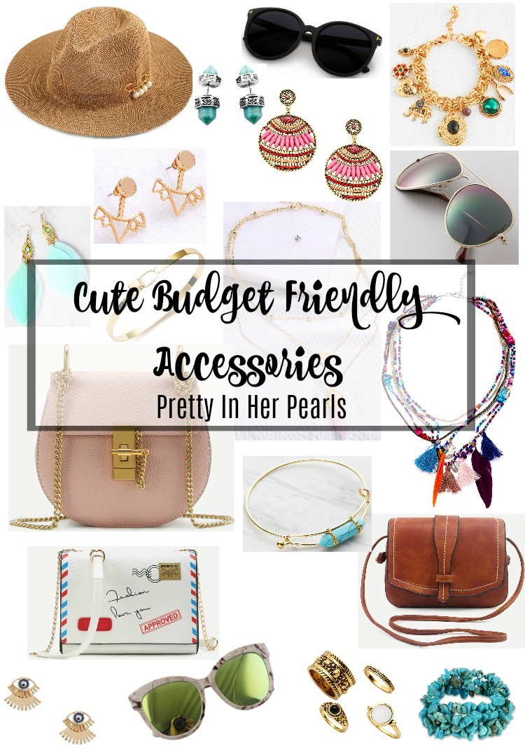 Cute Budget Friendly Accessories, Cute Accessories, Pretty In Her Pearls, Romwe Budget Friendly Accessories, Houston Style Blogger