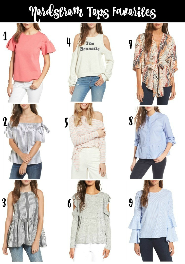 Nordstrom Tops Favorites Listed