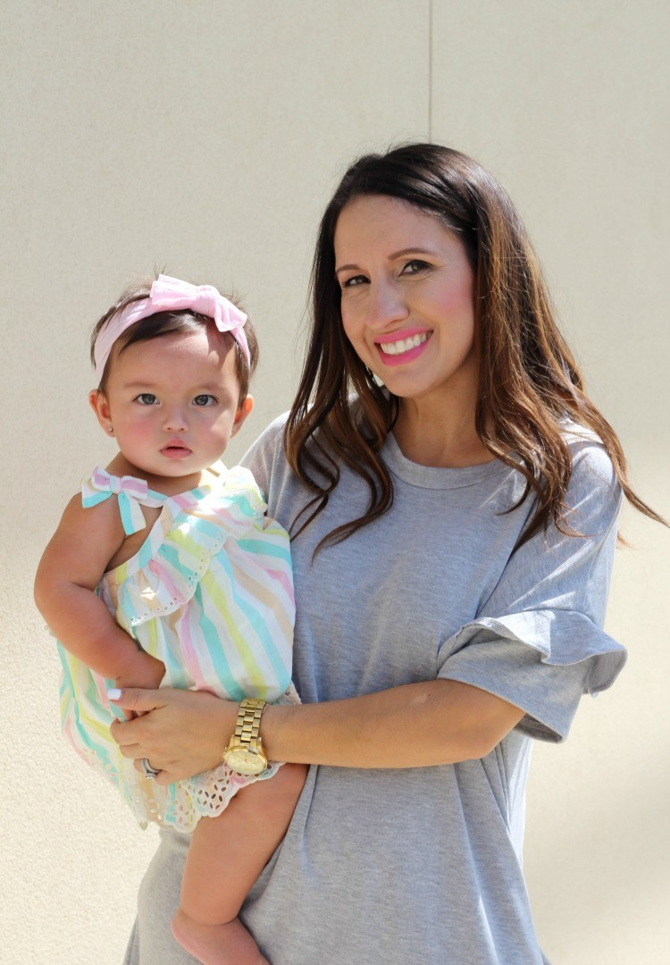 Mommy and Me Day, The perfect grey dress, Pretty In Her Pearls, Petite Blogger