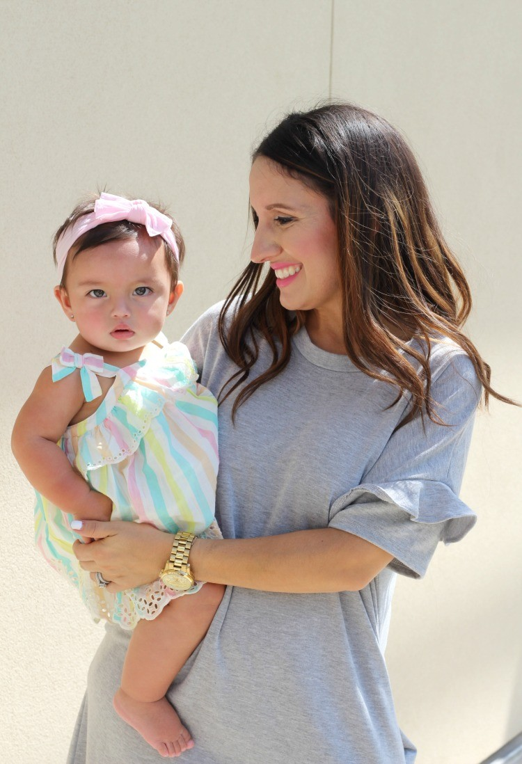Mommy and me style, The perfect grey dress, Pretty In Her Pearls, Petite Blogger