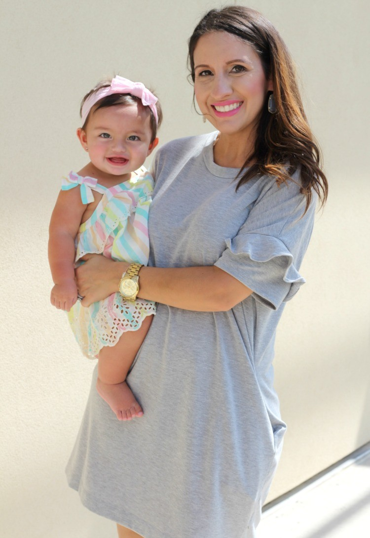 Mommy and me style,The perfect grey dress, Pretty In Her Pearls, Petite Blogger