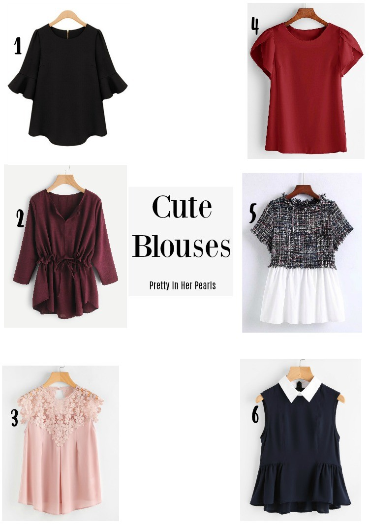 Cute Blouses, Pretty In Her Pearls, Style Blogger