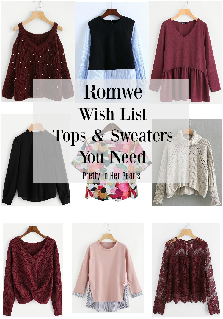 Romwe Tops and Sweater You Need, Pretty In Her Pearls, Romwe, Petite Blogger, Romwe Tops and Sweater You Need, Pretty In Her Pearls, Romwe, Petite Blogger, Houston Blogger