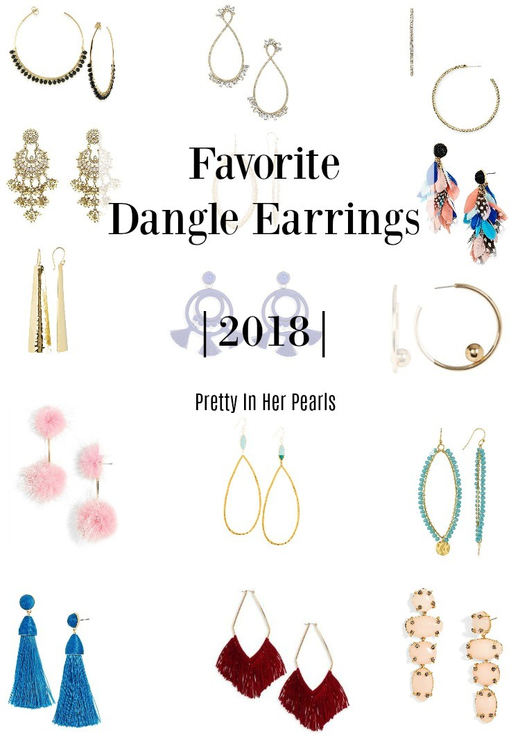 Favorite Dangle Earrings 2018, Pretty In Her Pearls, Houston Blogger, Earrings, Dangle Earrings
