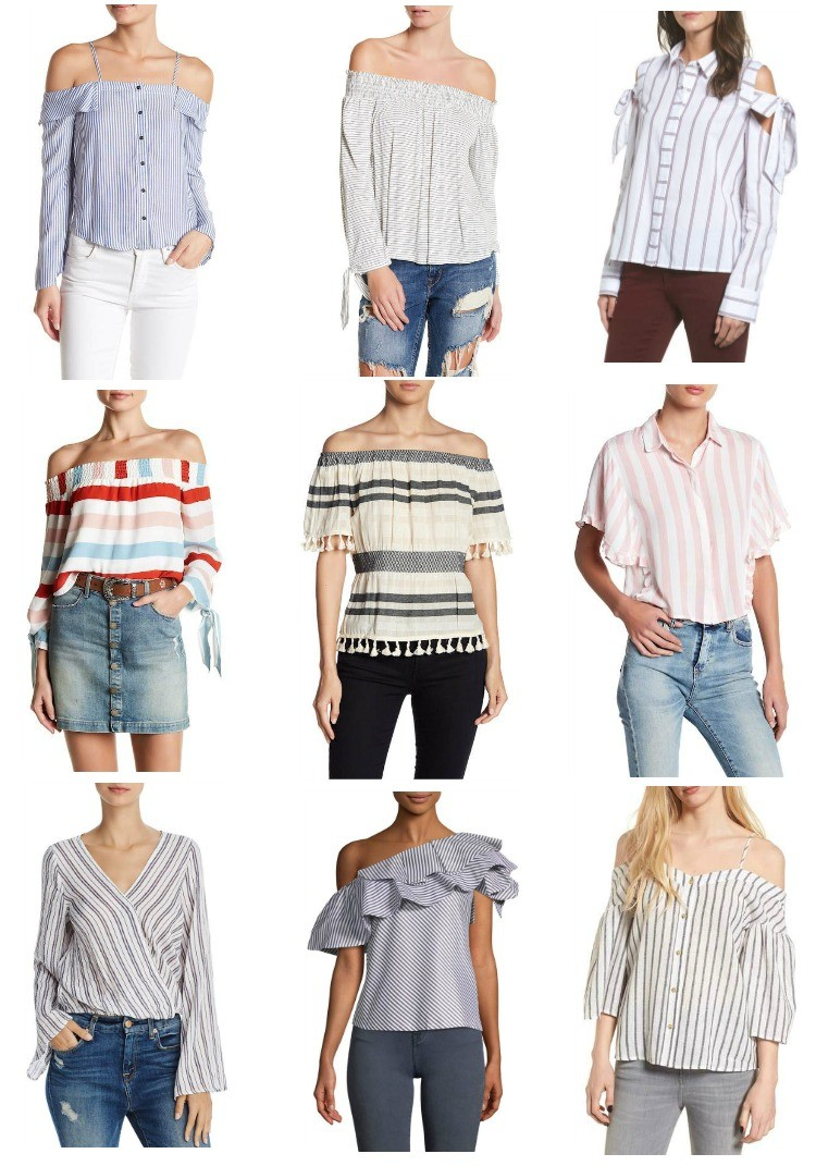 Stripes for spring, Pretty In Her Pearls, Houston Blogger, Petite blogger, Tops with stripes, Spring style